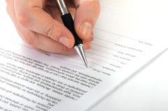合同 免版税图库摄影