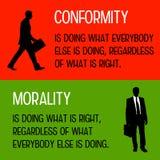 整合和道德 向量例证