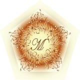 组合图案设计M 简单和优美的组合图案设计模板 库存照片