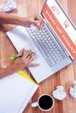综合图象的桃红色今天报名参加 免版税图库摄影