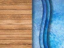 合并与木地板和梯子的顶视图 免版税库存图片