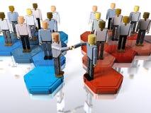 合并小组二的公司 免版税库存照片