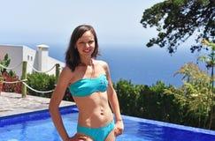 合并游泳妇女年轻人 图库摄影