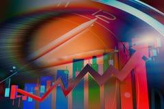 综合性背景的经济发展 库存图片