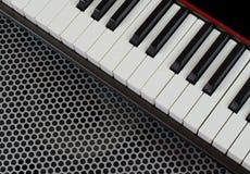 合成器键盘乐器,演播室射击了在interestin 免版税库存照片