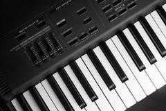 合成器键盘 图库摄影