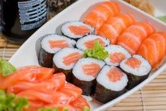 组合日本的食物 图库摄影