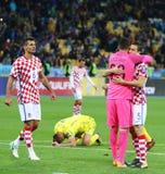 合格的世界杯足球赛2018年:乌克兰v克罗地亚 免版税库存图片