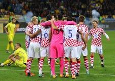 合格的世界杯足球赛2018年:乌克兰v克罗地亚 免版税库存照片