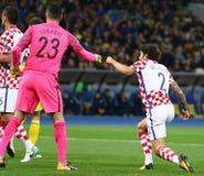合格的世界杯足球赛2018年:乌克兰v克罗地亚 免版税图库摄影