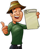 合格的工作者 免版税库存图片