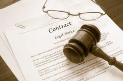 合法企业的合同 免版税库存照片
