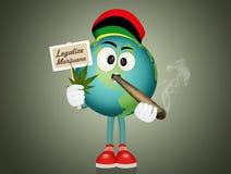 合法化大麻在世界上 库存例证