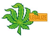 合法化大麻 皇族释放例证