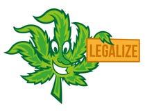 合法化大麻 库存例证