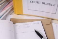 合法的文书工作日志 免版税图库摄影