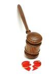 合法的离婚 库存图片