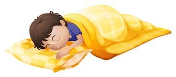 合理地睡觉一个年轻的人 图库摄影