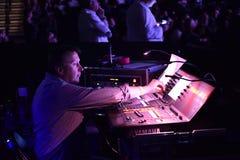 合理的乘员组维克托Drobysh第50个年生日音乐会在巴克来中心 库存照片