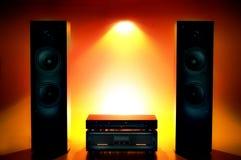 合理的立体音响系统 免版税库存图片