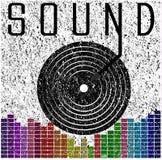 合理的音乐图表海报T恤杉图形设计 图库摄影