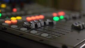 合理的音乐搅拌器控制板 股票视频