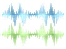 合理的音频波向量集合 免版税库存图片
