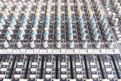 合理的mixe,混合的控制台 免版税库存照片