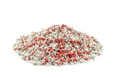综合矿物肥料堆  免版税库存图片