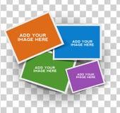 综合空的照片框架 免版税库存图片