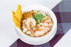 组合面条包含许多泰国食物 图库摄影