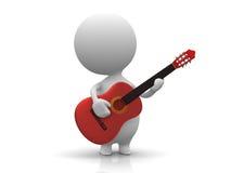 吉他人员作用 免版税库存图片