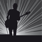 吉他人 库存图片