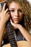 吉他女孩 库存图片