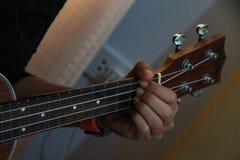 吉他室手指妇女戏剧 库存图片