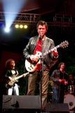 吉他弹奏者作用 免版税图库摄影