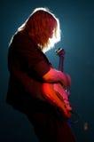 吉他弹奏者场面 库存照片