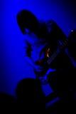 吉他弹奏者岩石 免版税库存图片