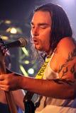 吉他弹奏者线索retox歌唱家 免版税库存照片