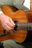 吉他弹奏者西班牙语 库存图片