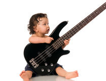 吉他弹奏者 库存图片