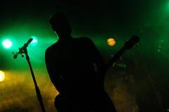 吉他弹奏者 库存照片