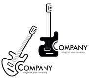 吉他徽标略写法 免版税库存图片