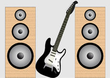 吉他报告人 库存图片