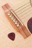 吉他挑库和吉他 免版税库存图片