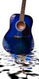 吉他淹没了 免版税图库摄影