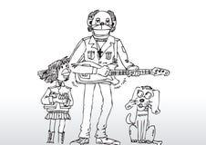 吉他演奏员例证 免版税库存照片