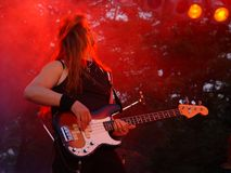 吉他演奏员 库存照片