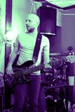 吉他演奏员 免版税库存照片