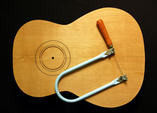 吉他现有量锯 库存照片